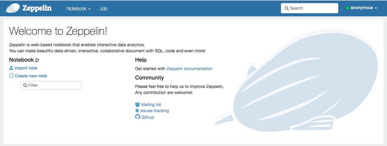 Chạy Apache Zeppelin trên đám mây