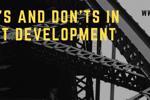 Danh sách Dos và Don'ts trong phát triển JavaScript