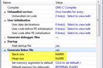 Thay đổi Heap và Kích thước ngăn xếp cho các dự án NXP Kinetis SDK v2.0 GCC