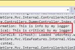 ASP.NET Core: Cách lọc nhật ký hoạt động